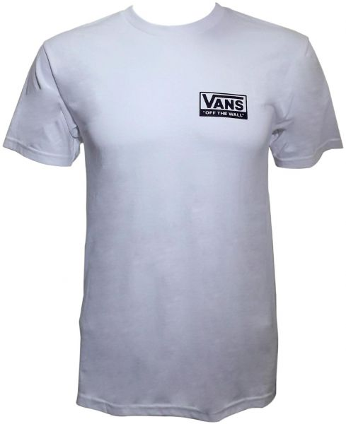 4f22a799b9 Vans off the Wall White Round Neck T-Shirt For Boys