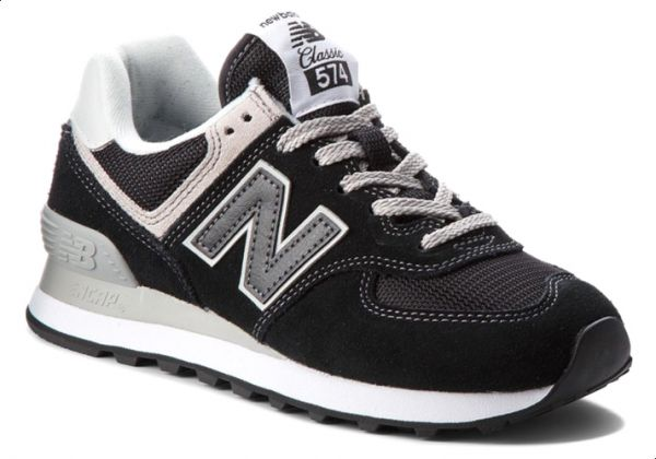 outlet store 7d325 b0db2 New Balance NB-574 Walking Sneakers For Women - Black
