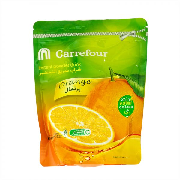 M Carrefour Orange Powder Juice, 500 gm