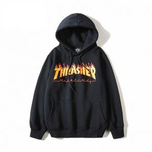 Thrasher Hoodie Flame Text 42c7401831