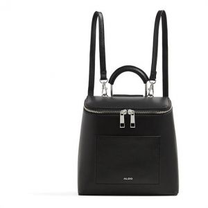 d2bdbdede4b Aldo Lovassi Fashion Backpack for Women - Polyurethane, Black Leather