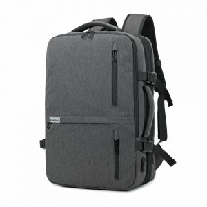 Kroeus 3-way Laptop Backpack Available Hidden Strap Expandable Large  Shoulder Bag 15.6 Inch Laptop Computer PC Briefcase Waterproof Business Bag  Grey 33aadf606b978