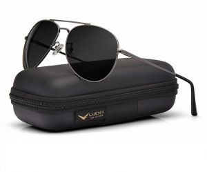 aa0712c290 LUENX Men Aviator Sunglasses Polarized for Driving with case 60MM