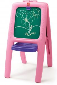 Step2 Easel For Two Pink With 77 Pieces Multi Functional Art Kit For Little Artists