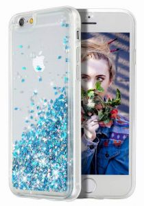 iphone 6 Case, iPhone 6S Case Double layer Design Bling Flowing Liquid Floating Sparkle Colorful Glitter Waterfall TPU Protective Phone Case for iPhone 6 6s ...