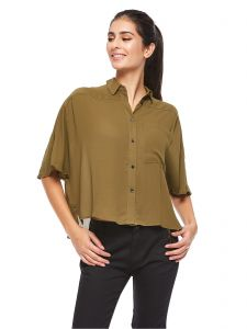 fc94c4474ed Tommy Jeans A Line Shirt for Women - Olive