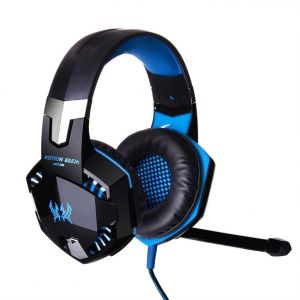 Stereo Surround Cable Headphone for Xbox One PS4 PC, Noise Cancelling Microphone Surround In-Ear Headphones, Cool LED Gaming Headset with LED Lights