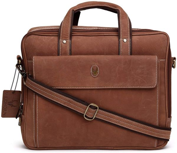 7d858c73fb WildHorn Genuine Leather Messenger Bag