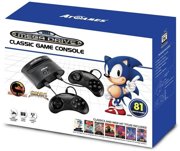 SEGA MEGADRIVE CLASSIC GAME CONSOLE WITH 81 BUILT-IN GAMES