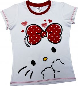 b11457bc2 Hello Kitty Girls T-shirt White Short Sleeve with Scarf - Iconic XIII