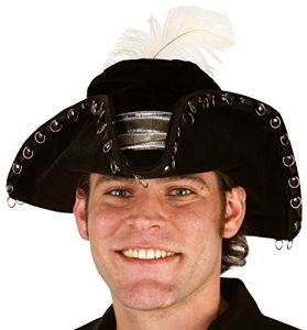 c064a3ebd95d0 Jacobson Hat Company Men s Large Velvet Pirate with White Feather
