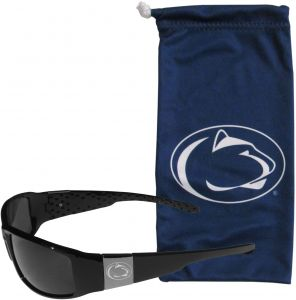 4c8f8702b94c NCAA Penn State Nittany Lions Etched Chrome Wrap Sunglasses and Bag