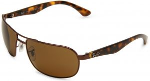 5157e08c78 Ray-Ban Rectangle Unisex Sunglasses - Brown Lens