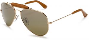 dc0212cfb75 Ray-Ban Aviator Unisex Sunglasses - Polarized Green Classic G-15 Lens