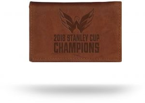 65a50c038 Rico Industries NHL Washington Capitals 2018 Stanley Cup Champions Embossed  Leather Trifold Wallet with Man Made Interior