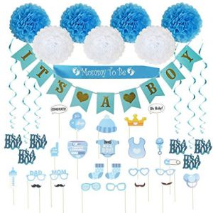 Baby Shower Decorations 40 pcs Kit for Boy  6b3977880826