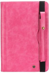 Business Samsung Galaxy TABS3 T820/T825 tablet PC leather flip case 9.7 inch multi-function card holder smart standing cover pink