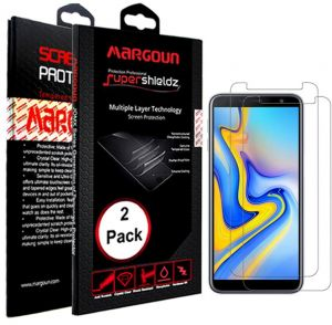 Margoun 2 Pack for Samsung Galaxy J6 Plus (6.0 inch) Screen Protector, Two Pack Protective Super Shields Multiple Layer Durable Screen Protector, ...