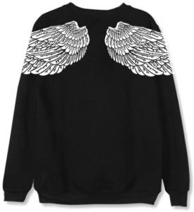 low priced 71cce 1c1c0 BTS same sweatshirts Back wing pattern unisex hoodies loose full sleeve  coat couple clothes M