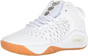 buy popular 6e030 c6380 AND1 Men s Attack Mid Basketball Shoe, White Super Foil Gum, 10 M US