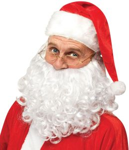 Standard Rubie/'s Flannel Santa Suit with Beard and Wig Red//White