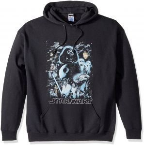 245e5677 Star Wars Unisex-Adults Men's Galaxy of Graphic T-Shirt, Black//Hoodie,  x-Large