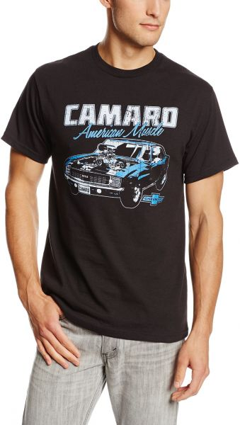 654e8ec12 تي شيرت كلاسيكي للرجال General Motors Camaro - Classic Camaro T-shirt Large  Black