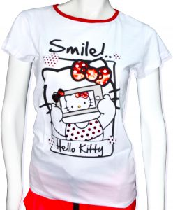 efec502d2 Hello Kitty Girls T-shirt White Short Sleeve with Scarf - Iconic Fourteen