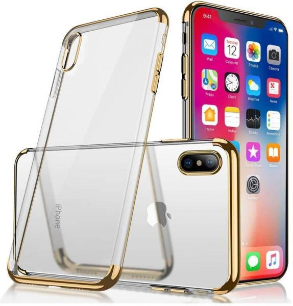 more photos b4860 34a3d iPhone Xs Case/iPhone X Case, Ultra Thin Slim Fit Soft Silicone TPU Cover  Case Compatible with iPhone X/iPhone Xs 5.8 inch 2018, Clear and Gold