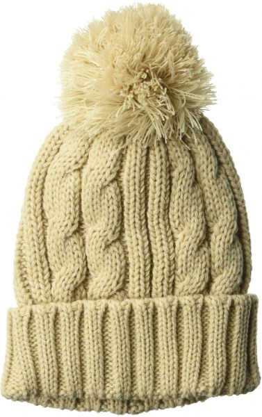 a00f24cb484 San Diego Hat Company Women s Solid Cable Knit Beanie with Cuff Pom ...