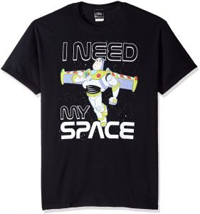 d654bbb7 Disney Men's Toy Story Buzz I Need My Space Graphic T-Shirt, Black, Small