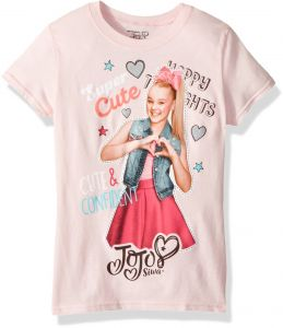 Nickelodeon Little Girls  JoJo Siwa Cute and Confident Short Sleeve T-Shirt 9766d98a8b4a