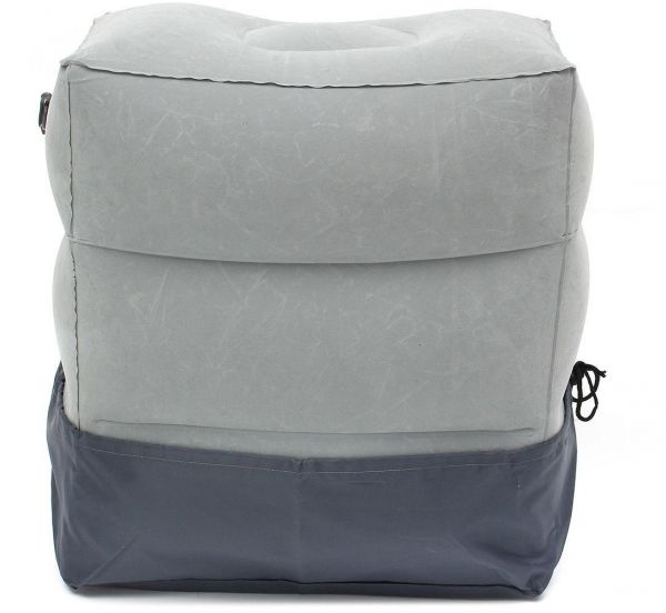 3 Layers Inflatable Travel Foot Rest Pillow Airplane Train Car Footrest Cushion With Storage Bag and Dust Cover