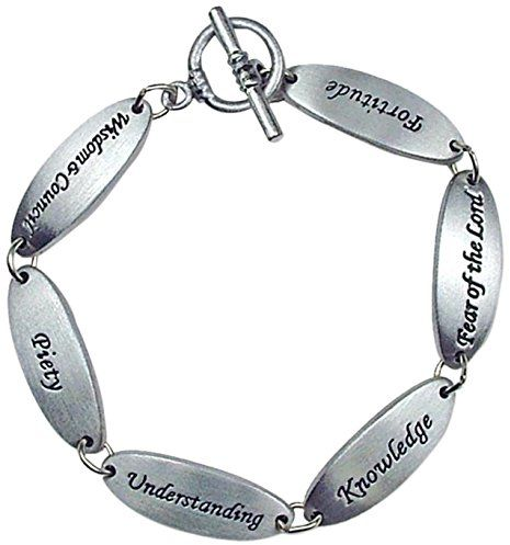 Cathedral Art LB108 Confirmation Gifts of the Holy Spirit Link Bracelet, 7-1/2-Inch in Length | Souq - UAE