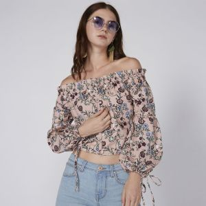 5acaee2a229804 Lee Cooper Full Sleeve Blouse For Women - Off Shoulder