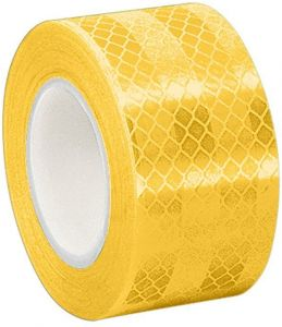 3M 3431 Yellow Micro Prismatic Sheeting Reflective Tape 3 Width X 5 Yd Length Pack Of 2