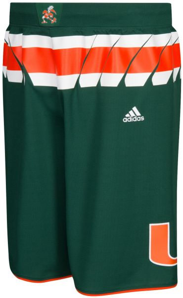 competitive price 57c9f a75fb adidas NCAA Miami Hurricanes Men's Premier Basketball Shorts ...