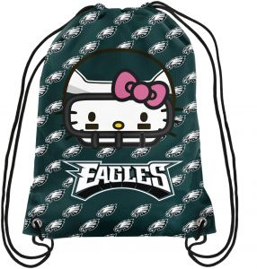 841202430528 FOCO Philadelphia Eagles Hello Kitty Drawstring Backpack - Team Color