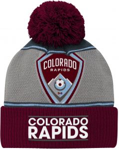 7e0927f1623 MLS Colorado Rapids Youth Boys Fan Cuffed Pom Hat