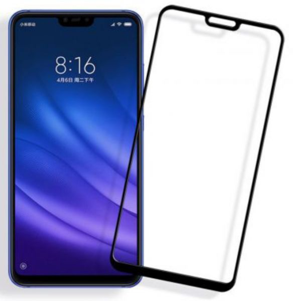 Glass Screen Protector For Xiaomi Mi 8 Lite - Black