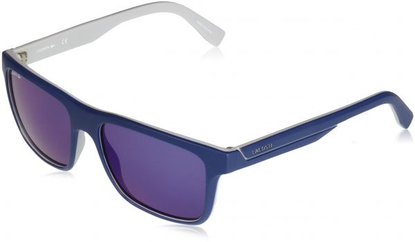 79d50b7a027 Lacoste Men s L876s Plastic Stripes and Piping Square Sunglasses