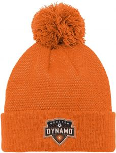 d7da5310af574 MLS Houston Dynamo Boys Cuffed Knit Hat with Pom
