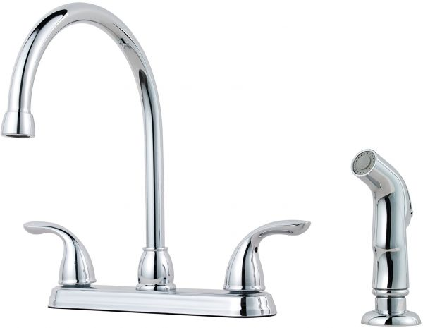 Pfister G136 5000 Pfirst Series 2 Handle Kitchen Faucet With Side