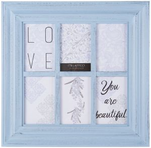 Baby or Wedding Photos Stonebriar Decorative White Collage Frame with Clothespin Clips Comes with Attached Mounting Hardware Unique Picture Frame for Family