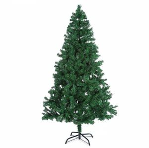 Artificial Christmas Tree Stand.150cm Full Plush Branches Pine Frasier Fir Green Artificial Christmas Tree Metal Tree Stand
