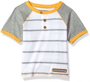 c27be97cbc57 Burt's Bees Baby Boys' Little Kids Style Name: T, Short Sleeve Tee Under  Shirt, 100% Organic Cotton, Cloud Raglan, 6 Years