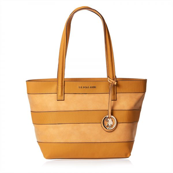 U. S. Polo Assn. Tote Bag For Women - Brown   Souq - UAE da9e083917