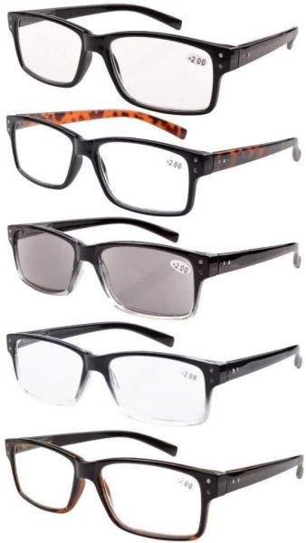 d1e3476c028 Eyekepper Vintage Reading Glasses Spring Hinges Sun Readers Plus0.50 ...