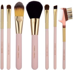 STELLAIRE CHERN Makeup Brush Set 7pcs Synthetic Makeup Brushes Travel Set  Foundation Powder Contour Blush Eye Cosmetic Brush With Leather bucket 4bdd396a0bef1