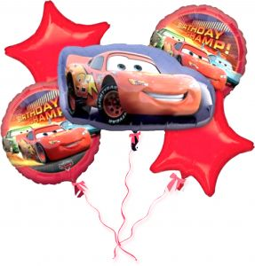 Tamona Cars Lightning Mc Queen THEME FOIL BALLOON BOUQUET SET OF 5 BIRTHDAY PARTY DECORATION